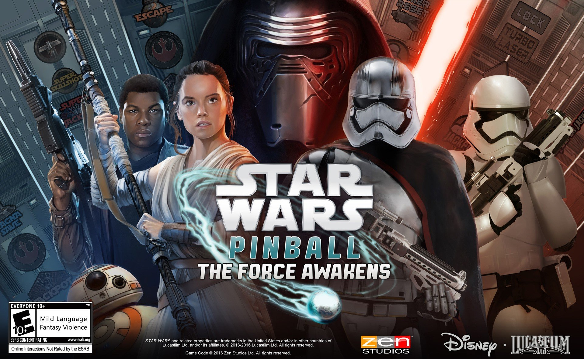 Star Wars: The Force Awakens Comes to Zen Pinball with Two Movie-Inspired Tables