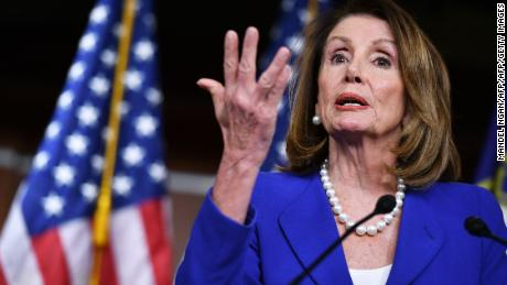 US House Speaker Nancy Pelosi, Democrat of California, holds her weekly press conference at